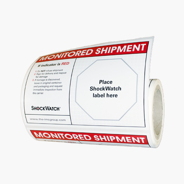 Shockwatch Stickers Companion Labels